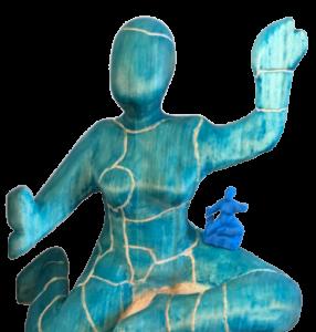 Mit 3D-Scan reproduzierte Figur.